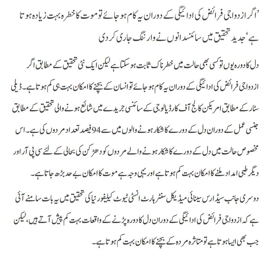 Azdwaji Faraiz Ki Adaegi Say Mot