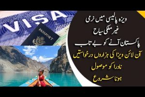 Foreign Tourists Are Applying For Online Visa To Visit Pakistan